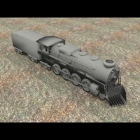 locomotive 2 8 3d model