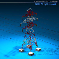 3d power tower model