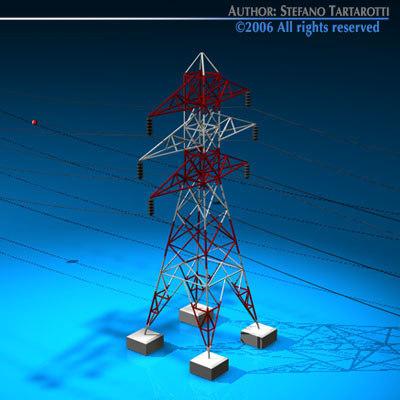 3d power tower model