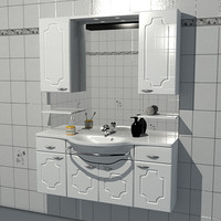 bathroom cabinet 3d model
