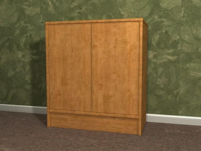 effektiv storage cabinet 3d max