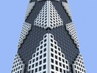 3d unique building 8 skyscrapers model