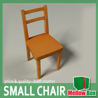 3d model unwrapped kid wooden chair
