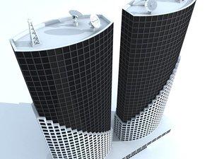 3d unique building 6 skyscrapers