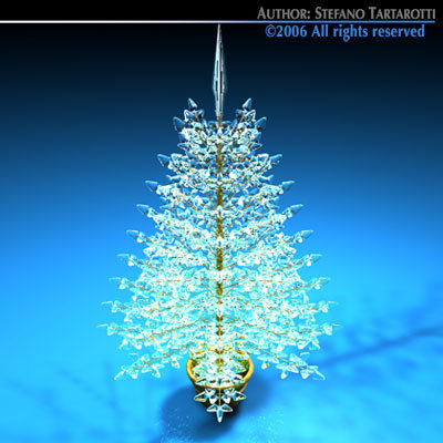 dxf christmas crystal tree