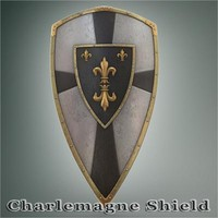 3d charlemagne shield