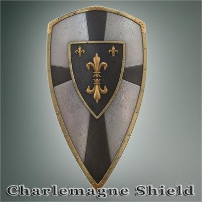 3d charlemagne shield