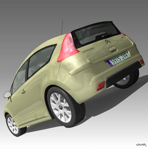 3ds max citroen c4 french car