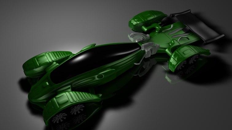 3d model hot concept car