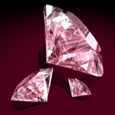 brilliant cut diamond stone 3d max