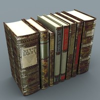 3d model set books