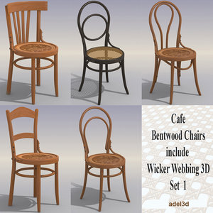 3ds max cafe chairs