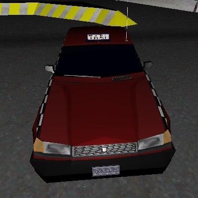3d car sedan taxi model