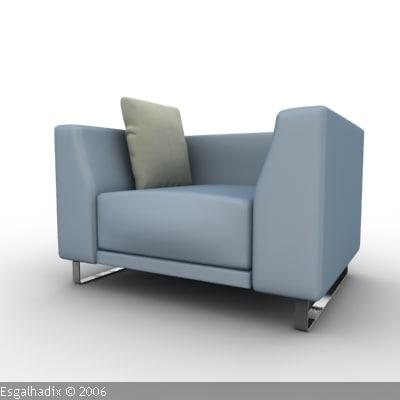 3d model armchair chair