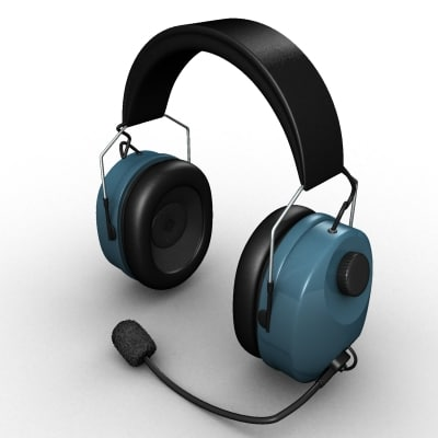 3d headset microphone model