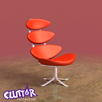 3d model futuristic corona chair