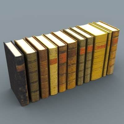 3d set books