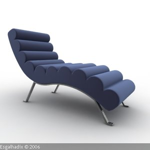 3ds armchair sofa chair
