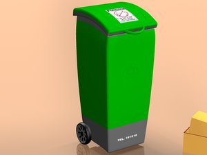 dumpster dustbin trashcan garbage container c4d