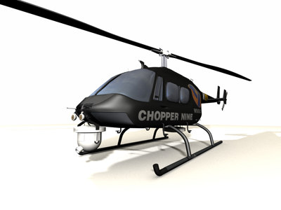 news helicopter 3d model