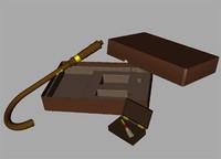 free crumhorn woodwind 3d model