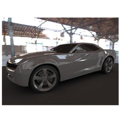 car 2009 chevrolet automobile 3d model