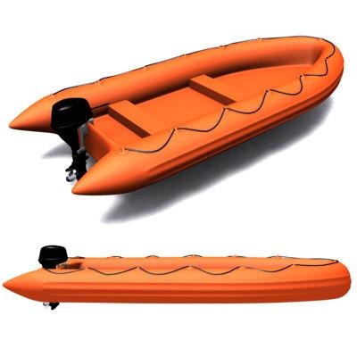 zodiac boat military 3d model