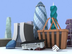 3d model unique buildings vol 2
