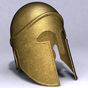 3d model hoplite helmet
