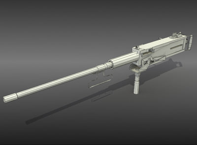 modeled 50cal - m2 browning 3d max