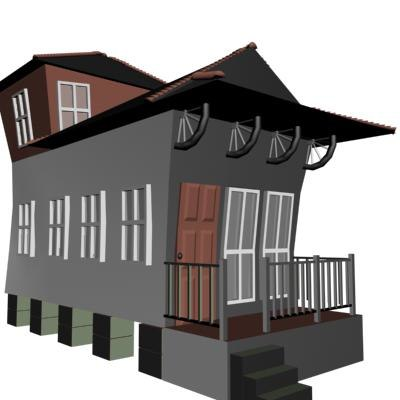 3d camelback house model