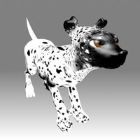 rigged dalmation 3d model