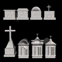 new graves markers 3d model