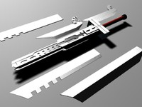 cloud sword 3d max