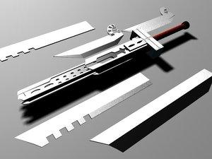 cloud sword 3d max