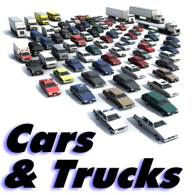 vehicles cars onsite site 3d model