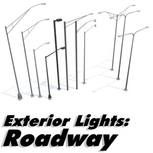 exterior lighting roadways - 3d max