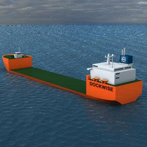 dockwise mothership ship transporter 3d model