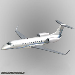 embraer erj-135bj legacy 3d model