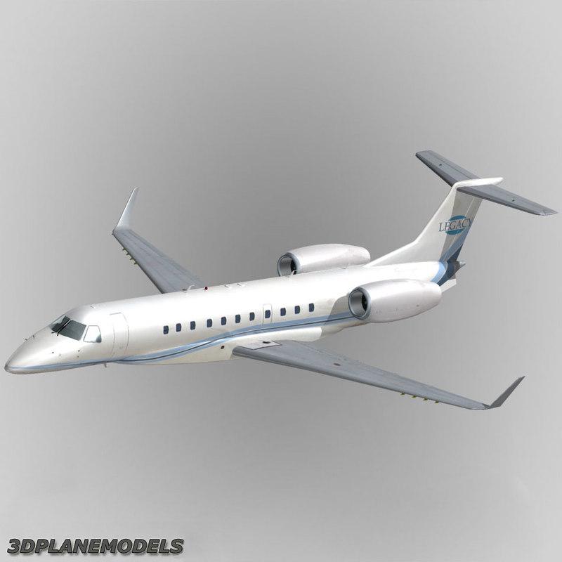 embraer erj-135bj legacy 3d model