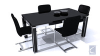 xsi scene file 5 dining set