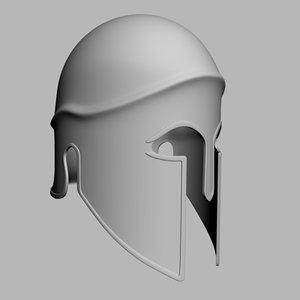 greek hoplite helmet 3d max
