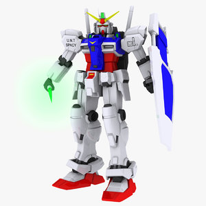 free gundam 3d model