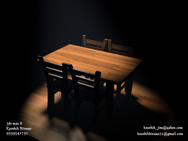 table lighting 3d model