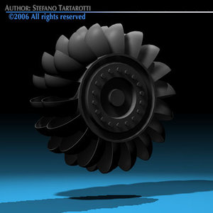 generic hydroelectric turbine 3d model