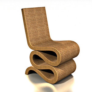 gehry wiggle chair 3d model