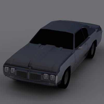 3d model 1970 pontiac gto