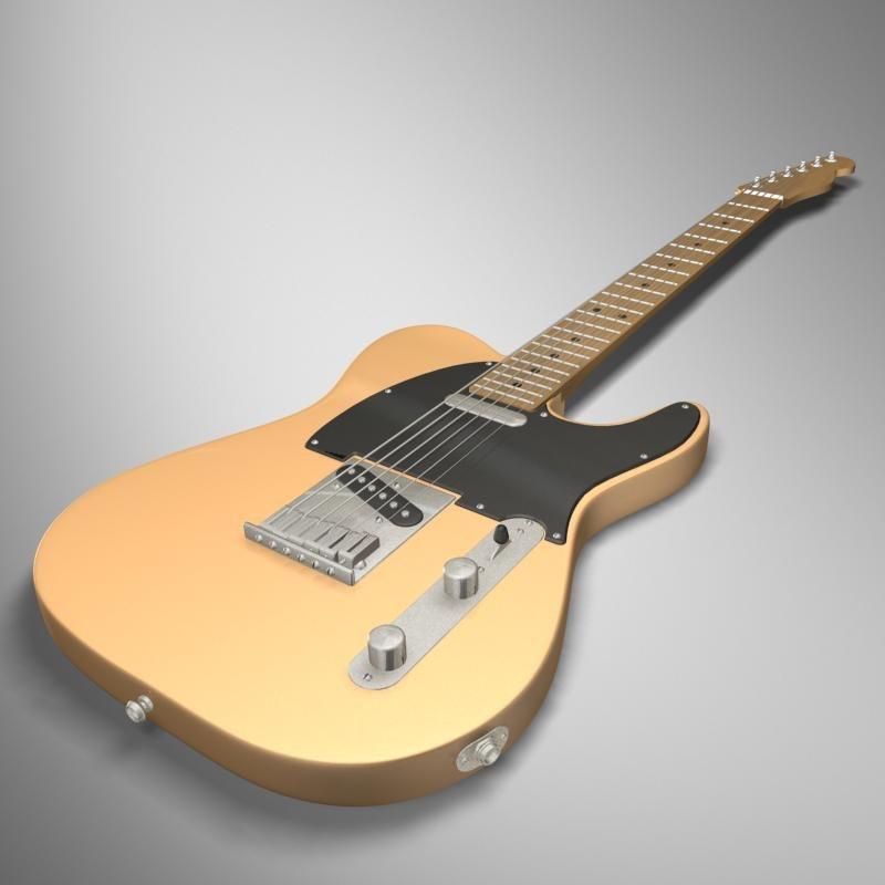 telecaster guitar 3d model