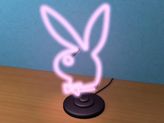 max neon light playboy bunny