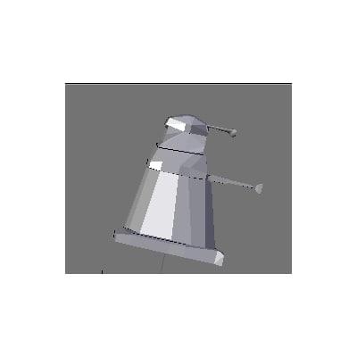 free dalek dr 3d model
